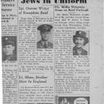 When Mollie came home on furlough, the Detroit Jewish News mentioned it on March 17, 1944.